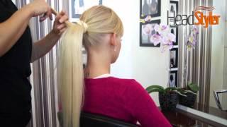 Doczepiany KUCYK, dopinka, Przedłużanie włosów HEADSTYLER