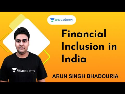 Financial Inclusion In India | MPPSC | VYAPAM | Arun Pratap Singh