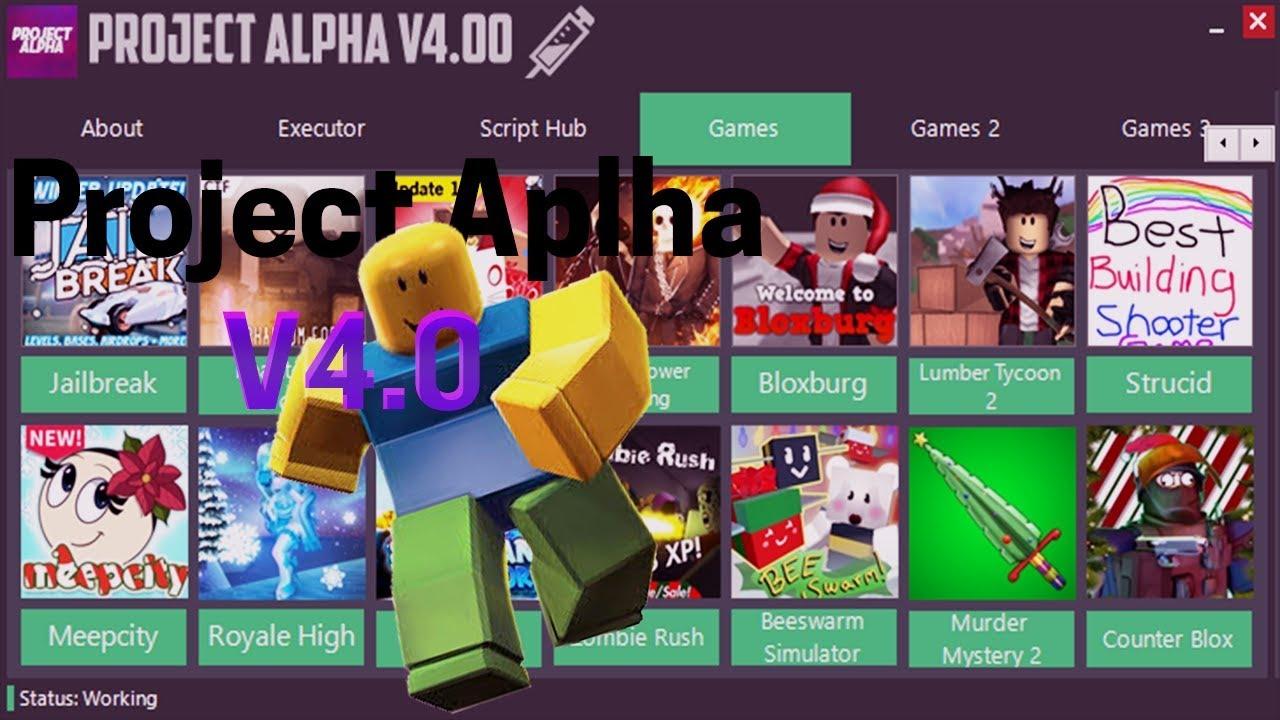Project Alpha V4 0 Roblox Script Injector || Alpha Exploits || Video 3 ||