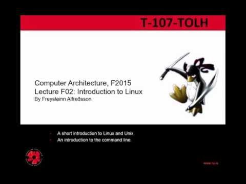Tölvuhögun 2015 - F02 Introduction to Linux