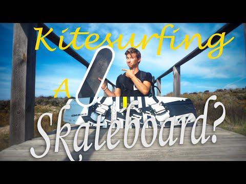 CAN YOU KITE IT? Skateboard Edition! - Kitesurfing Sardinia - FLYINGFLO(g) #11