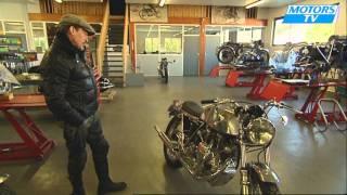 Florent Pagny restaure des motos anciennes