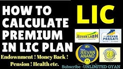 How to calculate Premium In LIC Insurance Full details in Hindi Must watch with Example jeevan labh.