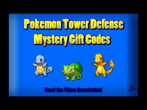 ♦ Pokemon Tower Defense 1 & 2 - A List Of Mystery Gift Codes ♦