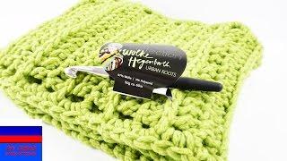 Весенний шарф вязание крючком видеоурок