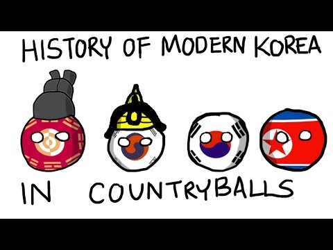 History of Modern Korea in Countryballs