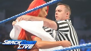 Eva Marie has a wardrobe malfunction before her match vs. Becky Lynch: SmackDown Live, Aug. 9, 2016 thumbnail