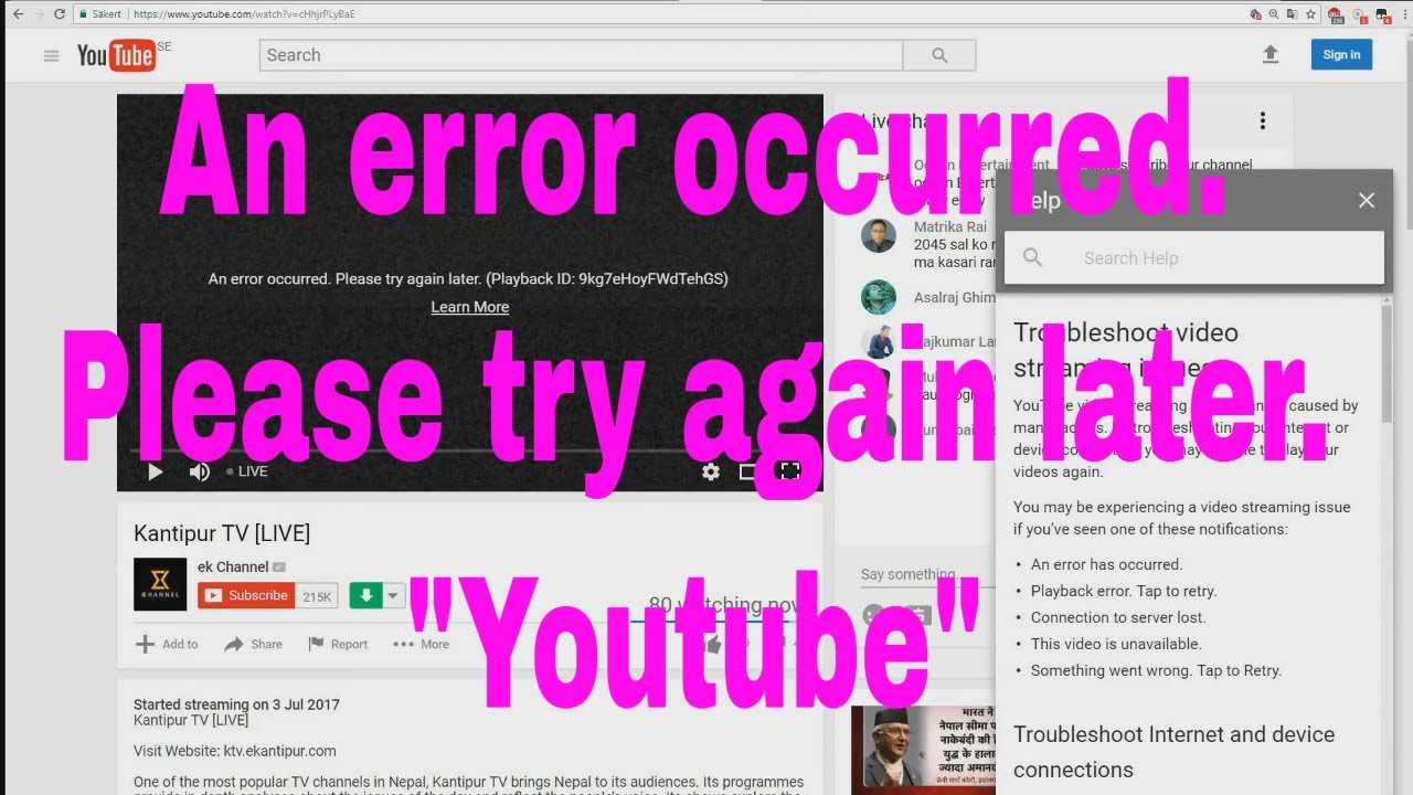 How To Fix An Error Occurred Please Try Again Later