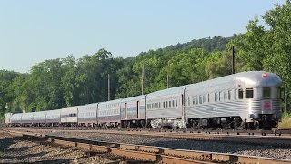 Amtrak 49 w/ 2 Pullman Private Cars @ Croton North (Lots of Horn)