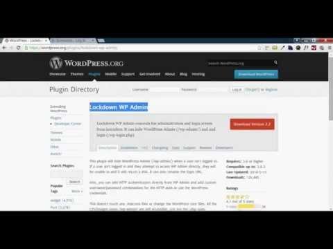 wordpress bangla tutorial-Security Plugin - Lockdown WP Admin