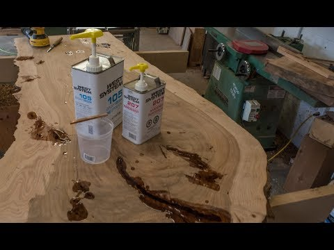 How To Fill Cracks With Epoxy, Live Edge Table Pt 4