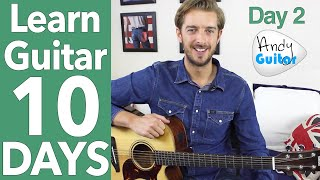 Guitar Lesson 2 - EASY 2 CHORD SONG & LEAD GUITAR [10 Day Guitar Starter Course]