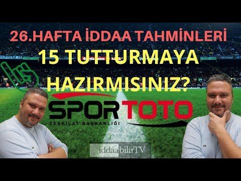 Spor Toto 26.hafta iddaa tahmnleri/free picks/iddaabilirTV
