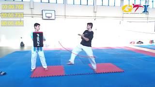 Video Melakukan DOLKE CHAGI yang baik dan benar (Tornado kick ,cepat,keras) Taekwondo download MP3, 3GP, MP4, WEBM, AVI, FLV Maret 2018