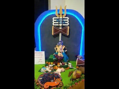 Ganpati decoration at home -  ganpati decoration ideas for home - eco friendly ganpati