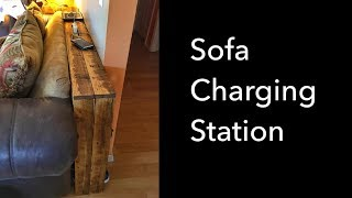 DIY Pallet Wood Sofa Table and Charging Station