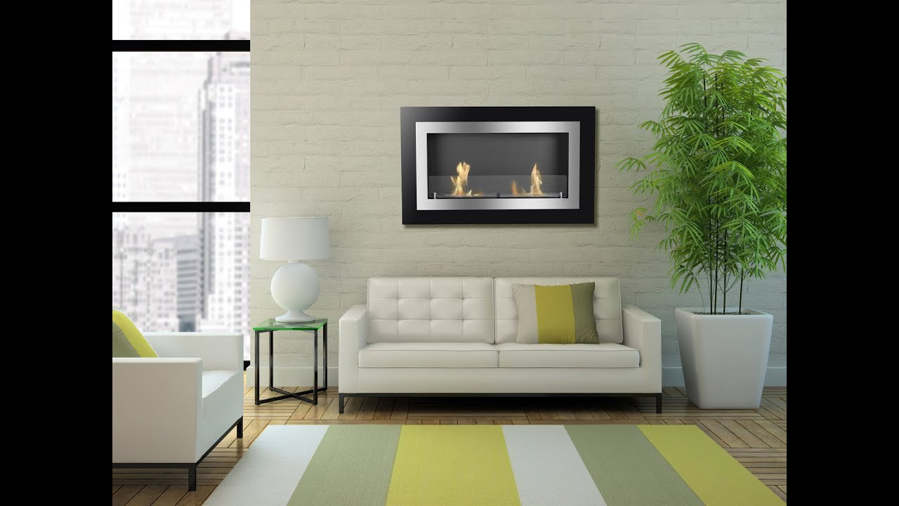 villa ethanol fireplace by ignis recessed or wall mounted