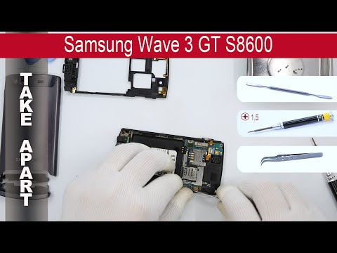 How to disassemble 📱 Samsung Wave 3 GT-S8600, Take Apart, Tutorial