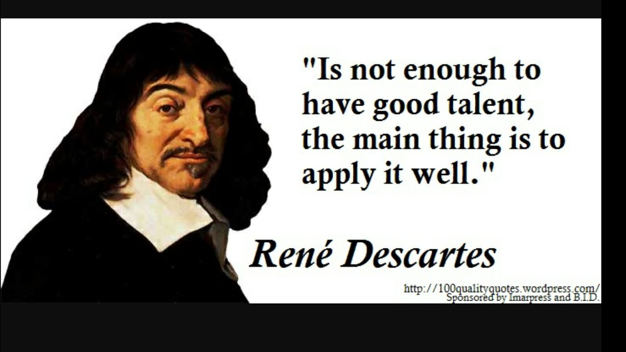 a summary of rene descartes philosophy Rene descartes' meditation of the first philosophy is written as a firsthand account of thoughts which occurred to descartes in the course of six days (meditation per day) in which he withdrew from the world in order to find a firm and proven basis for his understanding of reality.