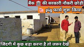 बैंक मैनेजर की नौकरी छोड़ी सूअर पालन किया,  कमा रहे लाखों ।  pig farm । kisan farming