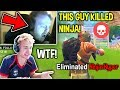 Top 5 Times Ninja Has Been Killed By Other Fortnite Twitch Streamers! (LIVE)