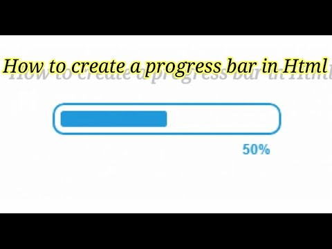 How To Make A Progress Bar In Html And Css||How To Create A Progress Bar In Html In Telugu