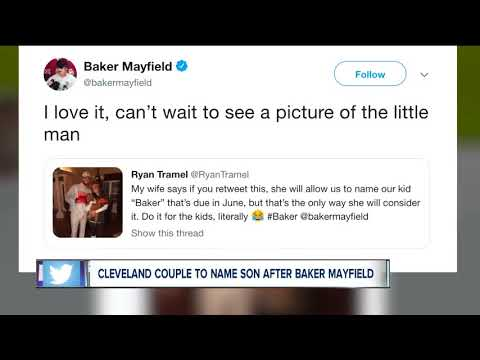 Cleveland couple to name son after Baker Mayfield