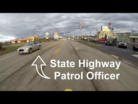 Getting Pulled Over by a State Highway Patrol Officer (DRZ 400SM)