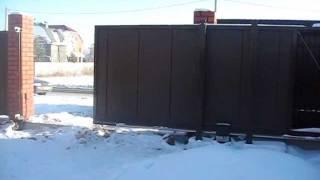 Откатные ворота ALUTECH (из нутри) г.Челябинск(, 2012-01-31T18:40:09.000Z)