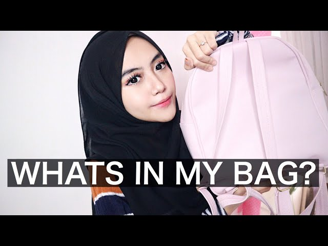 WHATS IN MY BAG + MAKEUP POUCH   Shafira Eden