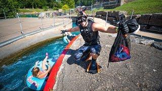 Exploring URBAN Tube Slide For Lost Treasure!! (Waterpark)| Jiggin' With Jordan
