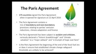 The contribution of private sector is essential to success paris agreement. beyond necessary advocacy for an ambitious agreement in paris,...