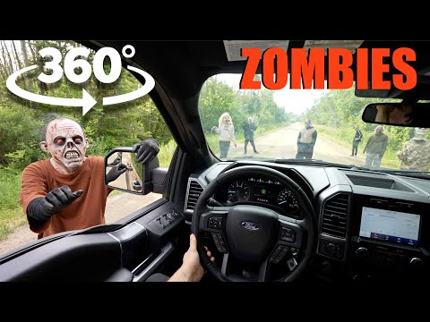 you won't believe what my 360° camera caught at this secret abandoned Road (Zombie Apocalypse)