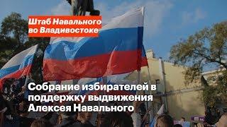 Владивосток: выдвигаем Алексея Навального в президенты