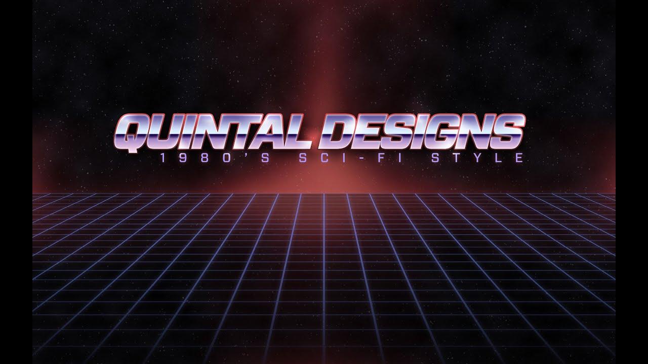 Retro 80 S Sci Fi Logo In Photoshop Youtube