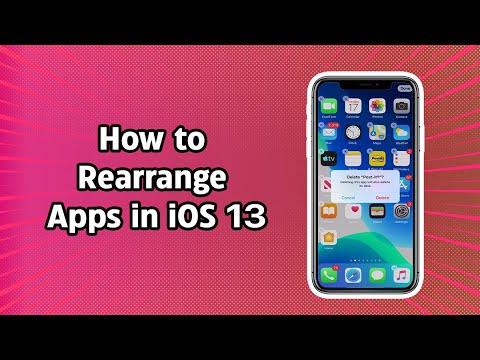 How to Rearrange Apps in iOS 13