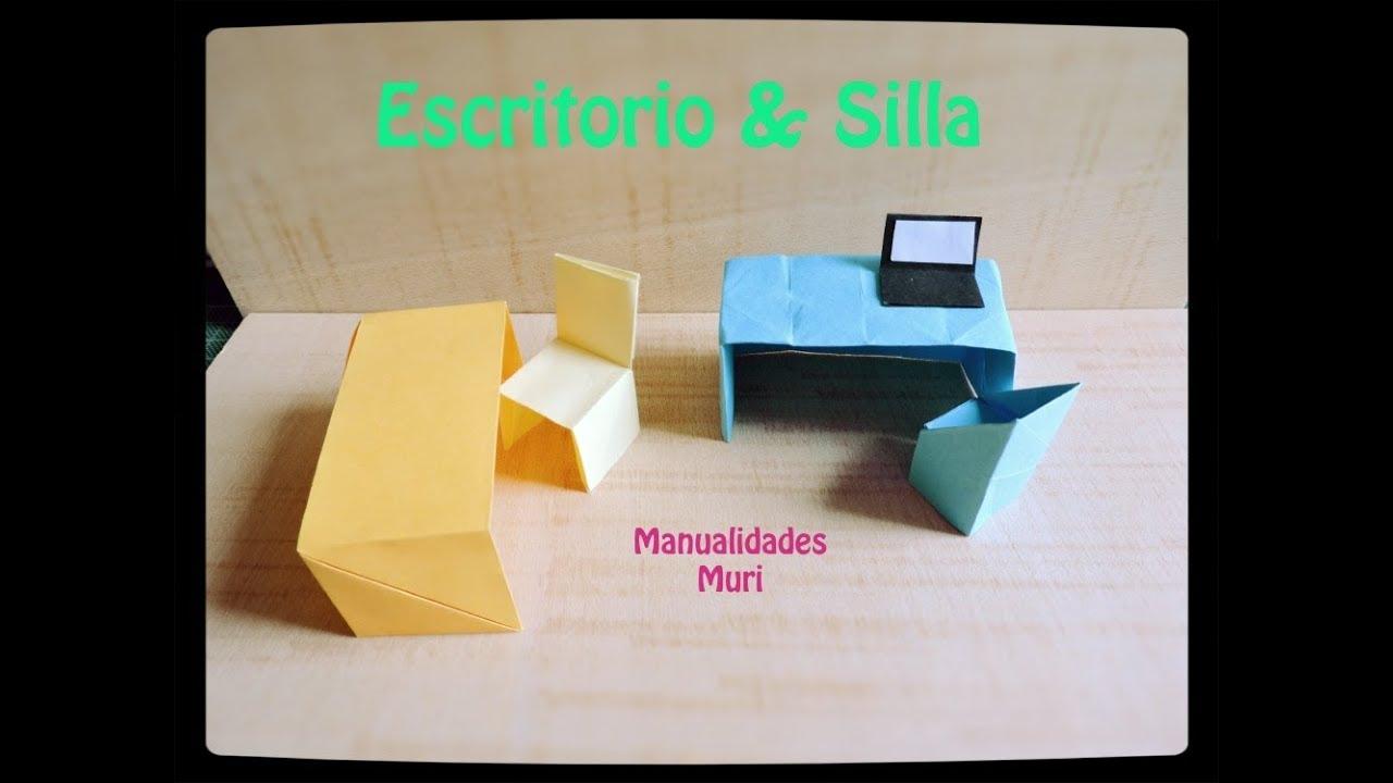 6d133d3074974 Origami - Cómo hacer un Escritorio y Silla de Papel
