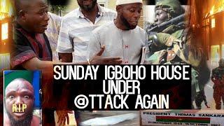 Breaking:Sunday Igboho house under @ttack Again:ARMY  SEE GUNFIRé