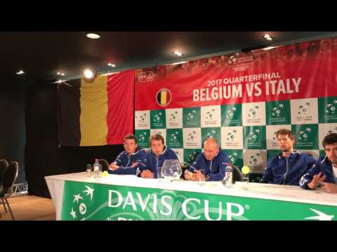 Belgium-Italy, QF Davis Cup 2017: Italy press conference
