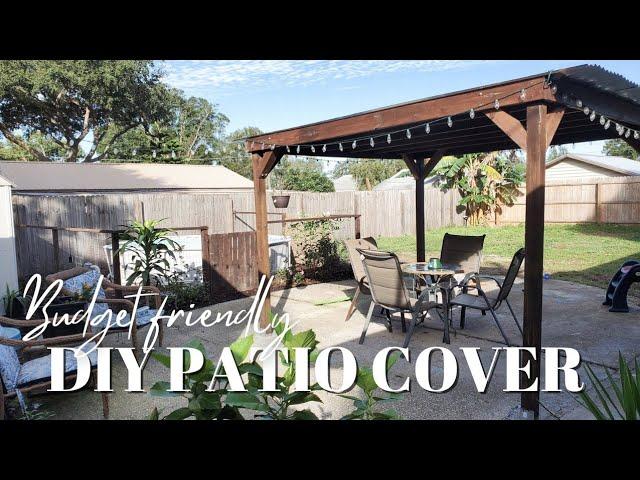 Budget Friendly Backyard Patio Cover, How To Build A Diy Patio Cover