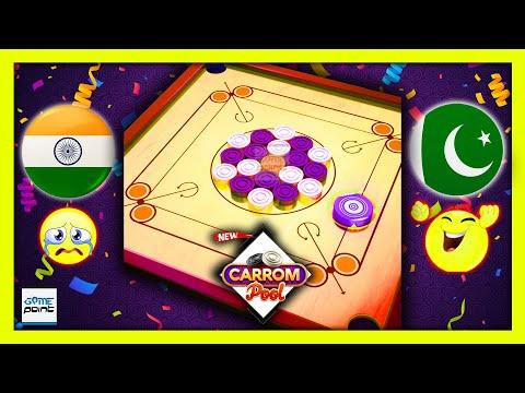 Carrom Pool Board Game India Vs Pakistan #7 | Carrom Game London Park Gameplay @Game Point PK