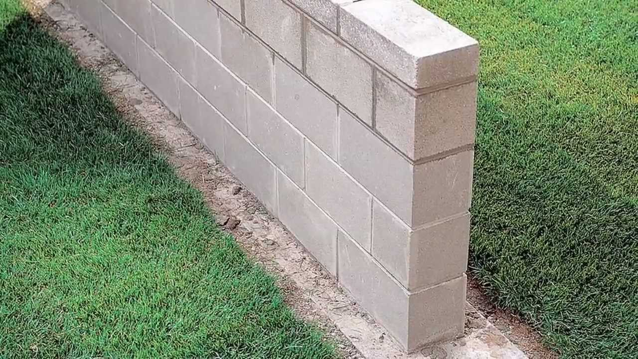 Building a block wall youtube for How to build a concrete block wall foundation