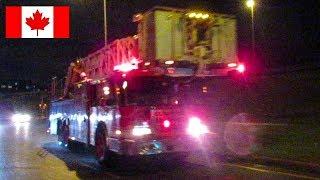 Dorval | Montréal Fire Service (SIM) Pumper 2063 & Tower 4063 Responding to Vehicle Accident