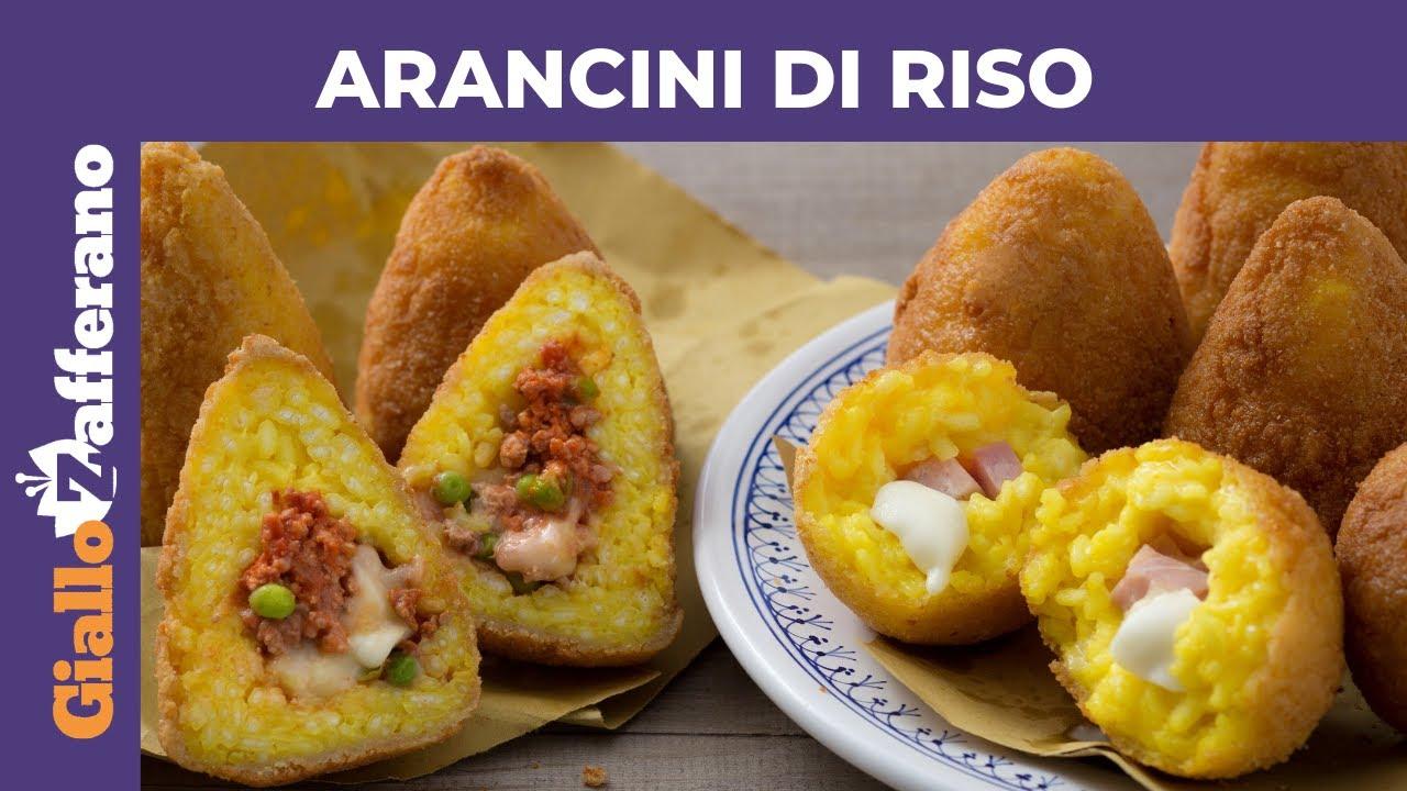 Ricetta Arancini Bianchi.Arancini Di Riso Siciliani Ricetta Originale Youtube