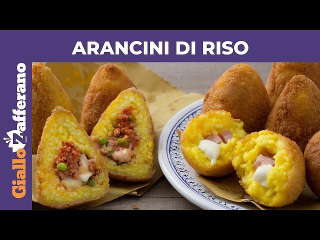 Ricette Arancini Giallo Zafferano.Arancini Di Riso Siciliani Ricetta Originale Youtube