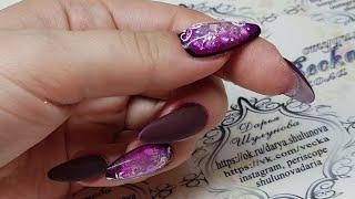 Зимний дизайн ногтей. Аквариумный дизайн ногтей