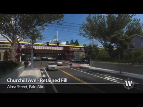 California High Speed Rail - Alma Street Options, Palo Alto
