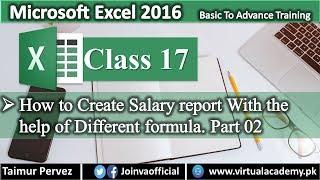 كيفية إنشاء راتب ورقة في Microsoft Excel   راتب ورقة مع صيغة جزء B. 17
