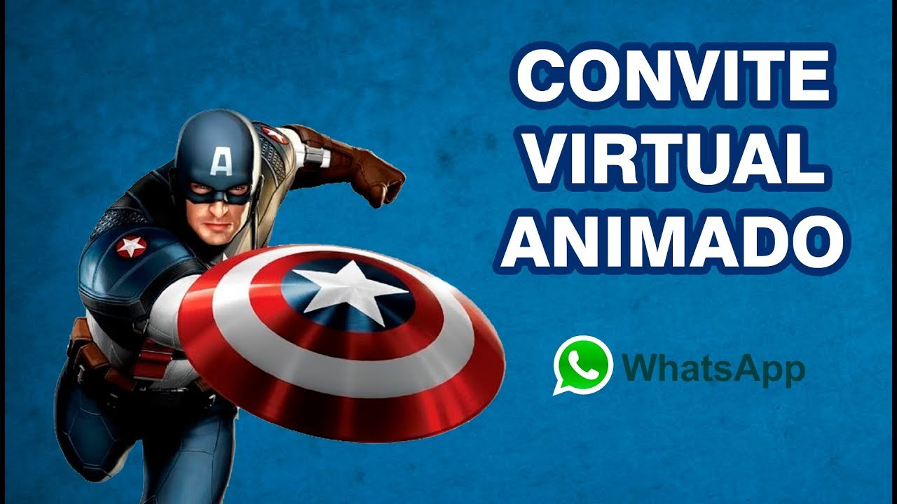 Convite Animado Capitão América (WhatsApp) Virtual/Digital - YouTube
