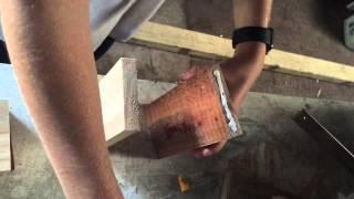 Scrap Wood Project. Diy Led Light Box Shelf